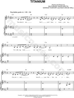 Titanium sheet music by Madilyn Bailey