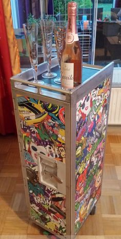Graffiti Design Airline Trolley,Bordbar Half Size,Flugzeugtrolley,Designer Style