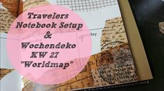 Setup Travelers Notebook + Plan With Me ♡  Wochendeko ♡ KW 27/2017 *Worl...