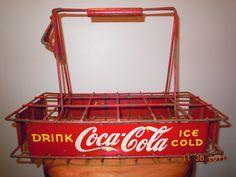 Vendor's Coca-Cola bottle carrier, c. 1930