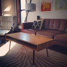 Mid Century Coffee Table Solid Wood von OrWaDesigns auf Etsy