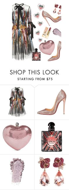 """I'll Be your Arm Candy'"" by dianefantasy ❤ liked on Polyvore featuring Elie Saab, Christian Louboutin, Whiting & Davis, Yves Saint Laurent, Anyallerie and statementbags"