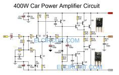 Car power amplifier circuit using C5100 / A1908
