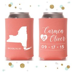 State or Province  Wedding Can Cooler 1  by SycamoreStudiosCo