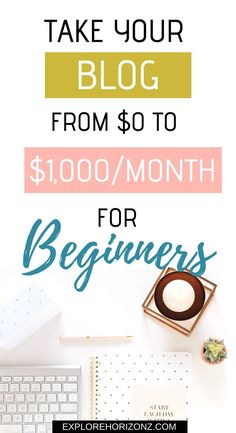 Make Money Blogging for Beginners The Solution for Taking Your Blog From $0 to $1,000/Month with Free Traffic, Affiliate Marketing, and Other Awesomesauce Strategies. Affiliate Link #blogging #ad #beginners #makemoney