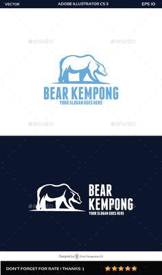 Bear Logo — Vector EPS #internet #design • Available here → https://graphicriver.net/item/bear-logo/11611483?ref=pxcr