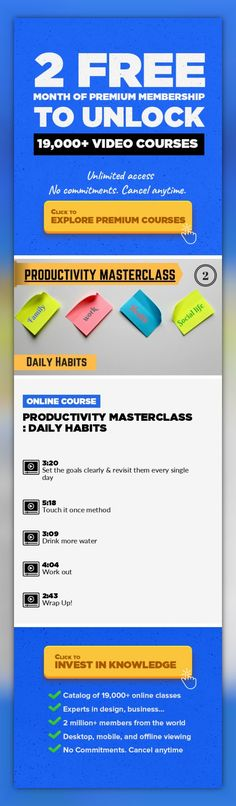 Productivity Masterclass : Daily Habits Business, Management, Personal Development, Productivity, Business Skills, Habit, Daily Habits, Productivity Tip #onlinecourses #skillspreschool #studyideas   Productivity Masterclass : Daily Habits My name is Sheetal Mulay & I'm a proud mother of 6 year old. Few year back when I decided to quit my corporate job & start my online journey. Very soon I start...