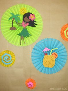 Close-up of paper rosettes background