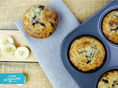 Low FODMAP Banana Chocolate Chip Muffins (easy to sub coconut oil for butter and coconut sugar for white sugar)