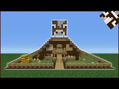 Minecraft Tutorial: How To Make A Cow Barn - YouTube