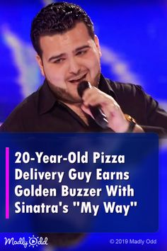 pizza delivery guy earns golden buzzer with Frank Sinatra hit. … pizza delivery guy earns golden buzzer with Frank Sinatra hit. Talent Show, America's Got Talent, Coward Of The County, Music Songs, Music Videos, Music Mood, Pop Music, Britain Got Talent, Show Dance
