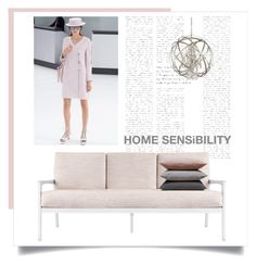 """Home Sense"" by vervetandhowler ❤ liked on Polyvore featuring interior, interiors, interior design, home, home decor, interior decorating, Bungalow 5, Capital Lighting, Hawkins and modern"