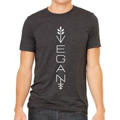 Be vegan and stylish with this awesome modern vegan shirt. Product Details: - Modern Vegan shirt. - 50% poly 25% combed and ring-spun cotton 25% rayon, 40 single 3.8 oz. - Modern Fit. - Printed in the