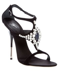 Giuseppe Zanotti Black sandals with crystals