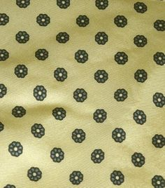 "Jos.A.Bank Clothiers Silk Yellow Print Necktie Measures 58""L X 3.25""W Ships Free Price:US $9.99"
