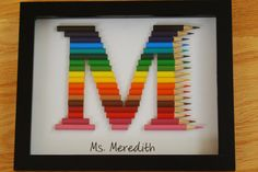 Personalized Teacher/Child gift monogram in by TooCoolChicks Teacher Appreciation Gifts, Teacher Gifts, Diy Home Crafts, Easy Crafts, Deco Originale, Monogram Gifts, Diy Projects To Try, Homemade Gifts, Kids And Parenting