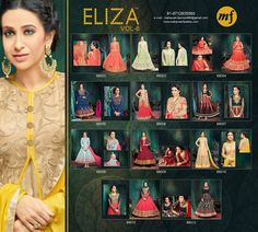 **** FULL / SINGLE CATALOG ****   #ELIZAvol6  Starring #Karishmakapoor Latest #Eid #Collection #FestivalSuit #DesignerSuit #PartySuit #HeavySuit #BollywoodSuit #OnlineShop