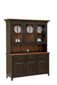 Amish Plymouth Three Door Hutch