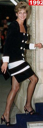 Such legs?; June 23, 1992: HRH Diana, Princess of Wales attending the Royal Albert Hall gala dinner in memory of Sammy Davis Jr