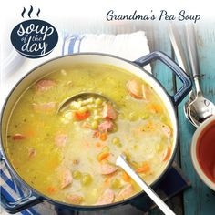 Grandma's Pea Soup Recipe from Taste of Home -- shared by Carole Talcott of Dahinda, Illinois