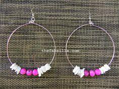 TheFabZilla: DIY Valentine | Pretty Pink Hoop Earrings
