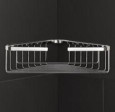 Metro Large Corner Shower Basket at Restoration Hardware is on sale for $35