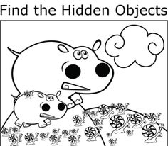 among the hidden coloring pages - photo#5