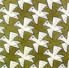 Symmetry Watercolor 106 Bird - M.C. Escher ✖️M.C. Escher ✖️Fosterginger @ Pinterest✖️