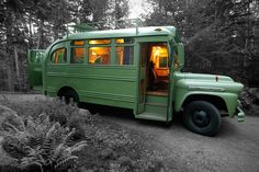 We never thought we'd see the day when we'd be willing to spend a pretty penny on a short bus, but that day is here. Using a 1959 Chevrolet Viking short bus as Rv Bus, Bus Camper, Mini Camper, Mini Bus, Cool Campers, Happy Campers, Chevy, Chevrolet, Transformers