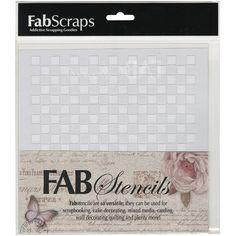 Fabscraps Plastic Stencil 8inX8in-Blocks
