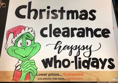 "Bobbi Johnson on Instagram: ""Just a fun little sign for work. #christmassign #homedepot #homedepotsignmaker #homedepotsign #thegrinch #wholidays #christmasclearance"" Inspire Others, Inspire Me, Christmas Clearance, Sign Maker, Christmas Signs, Love My Job, Home Depot, How To Make, Fun"