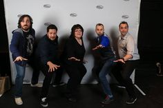 Me and the guys 2/8/15 - Red Bank, NJ (a pose from my favorite part of the new show)