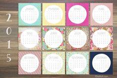 FREE printable 2015 calendar cards (Spanish)