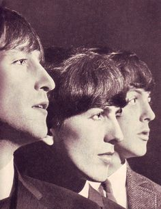 John Lennon, George Harrison, and Paul McCartney