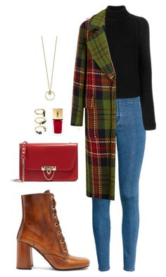 Street style by dalma-m on Polyvore featuring polyvore fashion style Calvin Klein 205W39NYC H&M Prada Valentino Noir Jewelry Yves Saint Laurent clothing