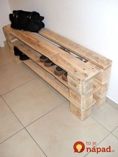 Shoe cabinets - unique shoe rack made of pallets / from 3 .- Schuhschränke – Einzigartiges Schuhregal aus Paletten / ab – ein Design… Shoe cabinets – unique shoe rack made of pallets / from – € – a unique product by Woodful on DaWanda - Pallet Furniture Designs, Home Furniture, Furniture Ideas, Palette Furniture, Furniture Online, Furniture Companies, Discount Furniture, Unique Home Decor, Home Decor Items