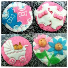 #cupcakes #cake_pops #cake #decorated #food #baking #cookies #fondant #decoration #wilton #baby #girl #twins #cooking #cute #party #kids by chef RBK