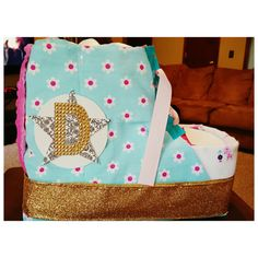 Diaper Cake Chuck Taylor Shoe Style Diaper by GeekFashionSource
