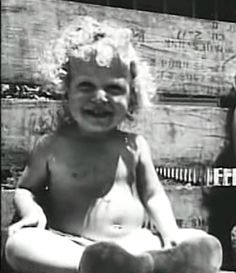 Bette Midler as a toddler.