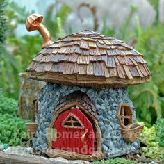 Fairy Homes and Gardens - Shingletown Large Mushroom House, $76.59 (https://www.fairyhomesandgardens.com/shingletown-large-mushroom-house/)