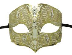 Gold Metal Royal Filigree Masquerade Mask