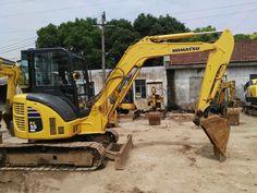 KOMATSU PC55MR small excavator, 5 ton Japan Komatsu mini digger