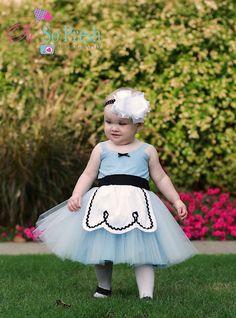 ALICE IN WONDERLAND dress baby 1st  birthday costume dress tutu dress $55.00, via Etsy.