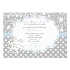 Printable Winter Wonderland Baby Shower Invitation Events