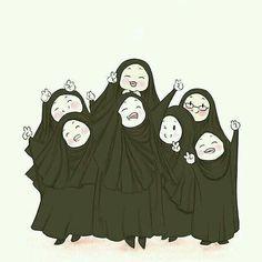 Kendinize Allah yolunda dostlar edinin♡ - Best of Wallpapers for Andriod and ios Muslim Girls, Muslim Women, Hijab Drawing, Islamic Cartoon, Anime Muslim, Hijab Cartoon, Islamic Girl, Islamic Wallpaper, Cute Chibi