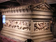 Alexander Sarcophagus from Sidon, late 4th century BC. Archeologic Museum of Istanbul, Turkey