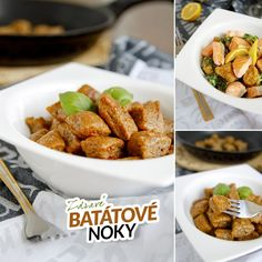 Gnocchi, Chicken Wings, Ham, Sweet Potato, Paleo, Potatoes, Fitness, Vegetables, Cooking