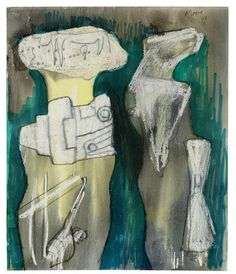 HENRY MOORE O.M., C.H. (1898-1986) Two Figures 11 1/2 x 9 3/8 in (29 x 23.8 cm) (Drawn in 1961)