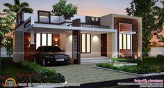 [ Designs Homes Design Single Story Flat Roof House Plans Inspiration Floor Kerala Planner ] - Best Free Home Design Idea & Inspiration Flat Roof House Designs, Flat Roof Design, House Roof Design, Small House Design, Cool House Designs, Modern House Design, Front Design, Design Homes, Cottage Design