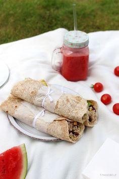 Tinkas Welt: Vegetarische Wraps und ein Wassermelonen-Erdbeer-Smoothie